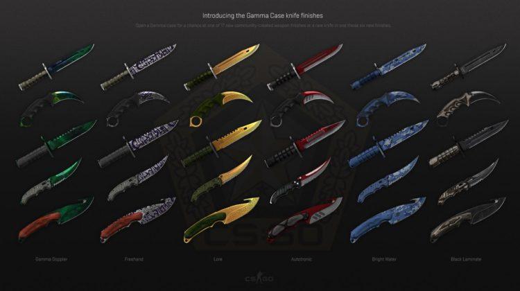 раскраски для ножей CS GO