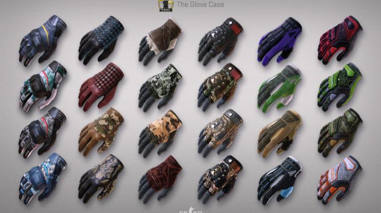 Список всех перчаток из кейса Glove Case